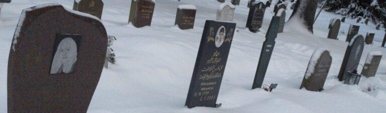 Vinter på kyrkogård